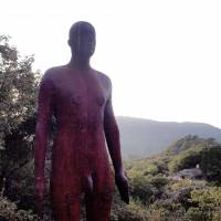 Antony Gormley's 'Another Time' faces eastward and looks into the distance of Kunisaki of Oita Prefecture. | MIO YAMADA