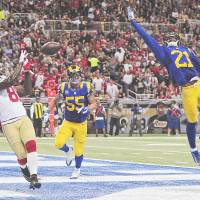 49ers step up, rally by Rams