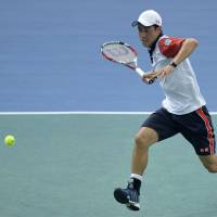 Nishikori beats Tsonga, stays on course for ATP Finals