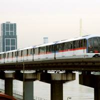 History cast aside: The Tokyo Monorail was built over water due to a budget shortfall related to construction of the shinkansen and impacted fishing and jobs in the affected areas. | KYODO