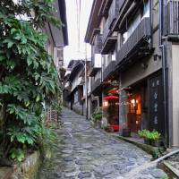 Time worn: An old stone pavement runs through the quiet hamlet of Yunohira, a town famous for its hot springs. | MANDY BARTOK