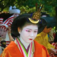 One of the main characters at the parade is Kazunomiya, a princess poet who lived in the 19th century. | ANGELES MARIN CABELLO