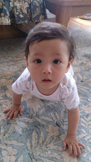 Lucia, the daughter of Romanian Cosmin Florescu and his wife, Naoko. | COURTESY OF THE PARENTS