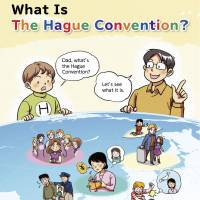 Abduction for dummies: Pictures from a Foreign Ministry pamphlet about the Hague Convention on child abduction.