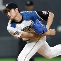 Take on the world: Shohei Otani was revealed on Thursday as one of the members of the Japan team that will face a group of MLB players in November. | KYODO