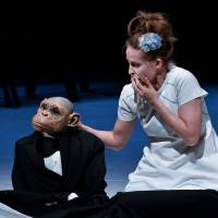 Mixed emotions: A performer and a puppet share a quiet moment together in Compagnie Philippe Genty's pigeonhole-defying 'Forget Me Not.' | AKIHITO ABE