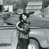 Not in Ginza anymore: Hiroko Tolbert on her husband's family farm in Elmira, New York, in 1953. | PHOTOS COURTESY OF THE FILMMAKERS