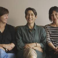 From left to right, Karen Kasmauski, Lucy Craft and Kathryn Tolbert — all of whom are the first-born children of 'war brides' — plan to start shooting 'Fall Seven Times, Get up Eight' next month.