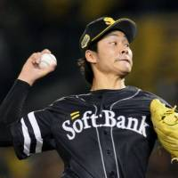 Mound presence: Tigers right-hander Shota Takeda, who retired 17 consecutive batters to start Game 2 of the Japan Series, allowed one run in seven innings on Sunday at Koshien Stadium. Fukuoka Softbank defeated the Hanshin Tigers 2-1. | KYODO