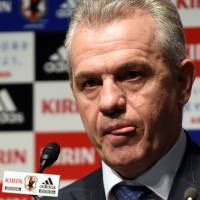 Getting to know you: National team manager Javier Aguirre answers a question at a news conference on Wednesday to name his squad for Japan's upcoming friendlies against Jamaica and Brazil. | AFP-JIJI
