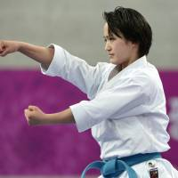 Shimizu, Shinohara collect karate golds