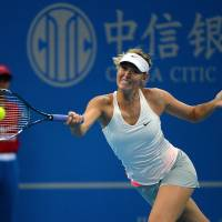 Sharapova beats Kvitova for China Open title