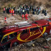 Spain's worst coach crash in 13 years claims 14