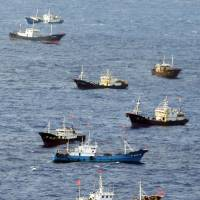 Chinese coral poachers encroaching on Japanese fishermen