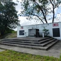 A monument now stands at the former Mabalacat West Airfield in Pampanga province, north of Manila, where Japanese kamikaze pilots launched their fatal missions. Local enthusiast Daniel Dizon was a driving force behind the memorial, seen here on Oct. 25. | KYODO