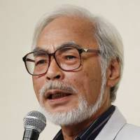 Hayao Miyazaki holds a news conference Sept. 6, 2013, in Tokyo, at which he discussed his retirement. The Academy of Motion Picture Arts and Sciences will honor Miyazaki at the 2014 Governors Awards on Saturday.   AP