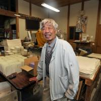 Teizo Takano, who runs a 'washi' Japanese paper-making studio in Higashi-Chichibu, Saitama Prefecture, says during an interview on Nov. 18 that he hopes the impending UNESCO recognition will help support the survival of the craft. | YOSHIAKI MIURA