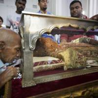 Once-in-a-decade public display of St. Francis Xavier relics begins in India