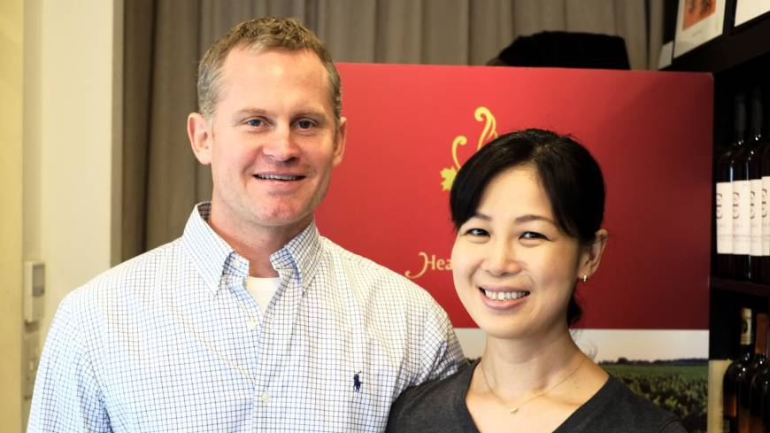 Jamie Paquin and his wife Nozomi Mihara | ALEX DUTSON