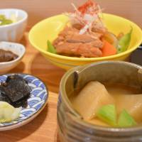 Daily harvest: With its own adjacent vegetable garden, Kyo no Okazu serves healthful and delicious meals using seasonal ingredients.   J.J. O'DONOGHUE
