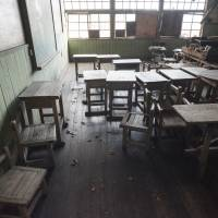 The interior of an abandoned elementary school in the district of Suwa, Nagano Prefecture.   | SKYE HOHMANN
