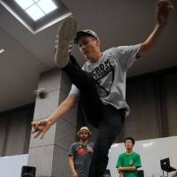 Podium: Thorkild May was awarded first prize at the Catch & Flow tournament in September. | SATOKO KAWASAKI