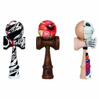 Various kendama from the 'Around the World — What the Dama?'  | COURTESY OF ULTRASUPERNEW GALLERY