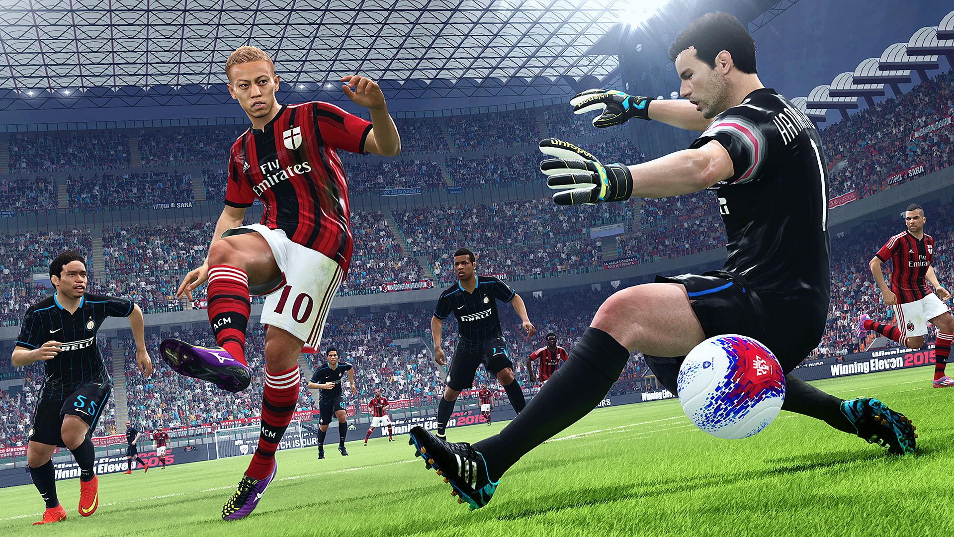 The successful 'Winning Eleven' video-game series Taya and Masuda produce, known overseas as 'Pro Evolution Soccer,' has become a fan favorite around  the world. | © Konami Digital Entertainment