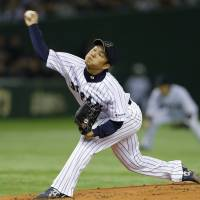 Norimoto, three relievers toss combined no-hitter against MLB All-Stars
