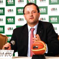 Frozen out: FIBA secretary general Patrick Baumann on Wednesday announced that basketball's governing body has banned Japan from international competition. | KAZ NAGATSUKA