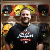 Good experience: After his first games in Japan as part of the ongoing MLB-Japan All-Star Series, Orioles pitcher Tommy Hunter says the atmosphere at Koshien Stadium and Kyocera Dome is unique, with cheer songs for each player.   | JASON COSKREY