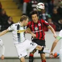 Welcome back: Eintracht Frankfurt midfielder Makoto Hasebe will join the Japan squad for friendlies against Honduras and Australia for the first time since this summer's World Cup. | AP