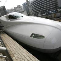 Japan Railways' N700 bullet train is seen at a platform at Tokyo Station. The Texas Central Railway Co. plans to use Central Japan Railway bullet train technology to run a high-speed line between Dallas and Houston.   REUTERS