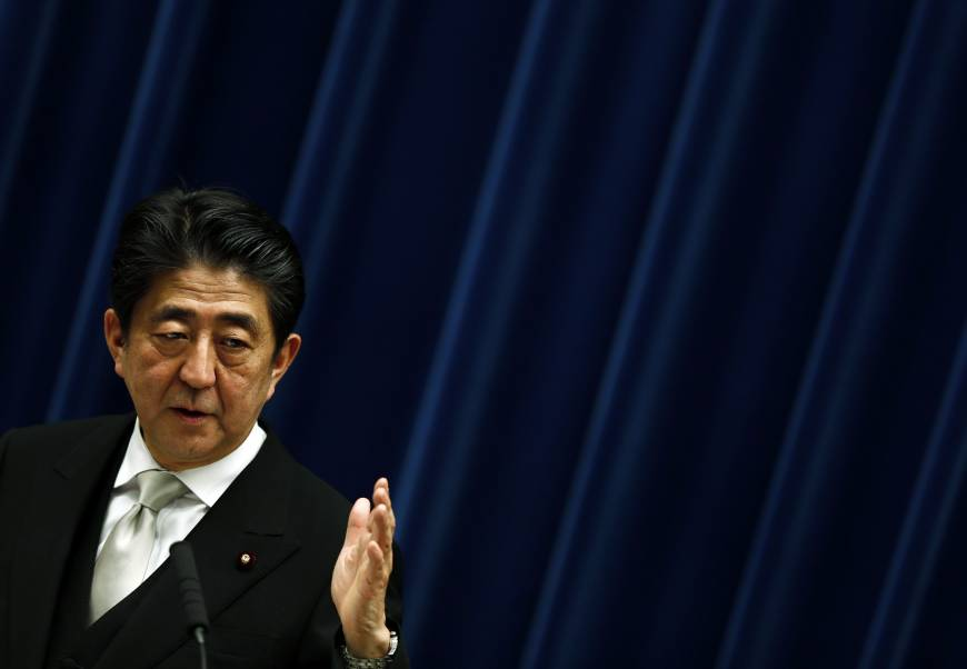 Abe vows to stay the course in third term as prime minister