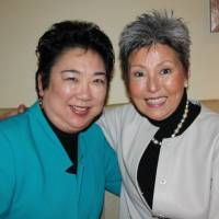 Film director Dianne Fukami (left) and co-executive producer Debra Nakatomi pose in Tokyo on Nov. 20. Their documentary, 'Stories from Tohoku,' looks at how the events of March 2011 affected people in the Tohoku region. | KYODO