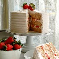 Let them eat cake: Magnolia Bakery in Tokyo is offering strawberry cake for the holidays, but those who don't want the whole thing can buy it by the slice.