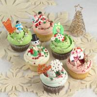 Getting festive: Magnolia Bakery is selling Christmas cupcakes.