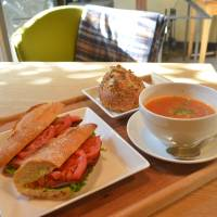 Sandwich set: Lunch at Mina_Mina includes warm treats. | J.J. O'DONOGHUE