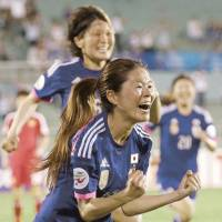 Not done yet: Homare Sawa was one of the key members of Nadeshiko Japan's World Cup-winning team in 2011. | KYODO