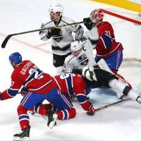 Canadiens' Price stands tall between the pipes