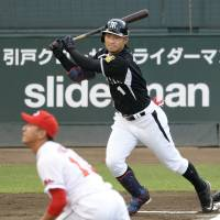 Where will it be?: Takashi Toritani is deciding between playing in the majors or returning to Hanshin for the 2015 season. | KYODO