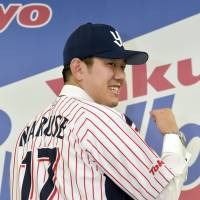 New attitude: Yoshihisa Naruse joined the Tokyo Yakult Swallows early in the offseason. | KYODO