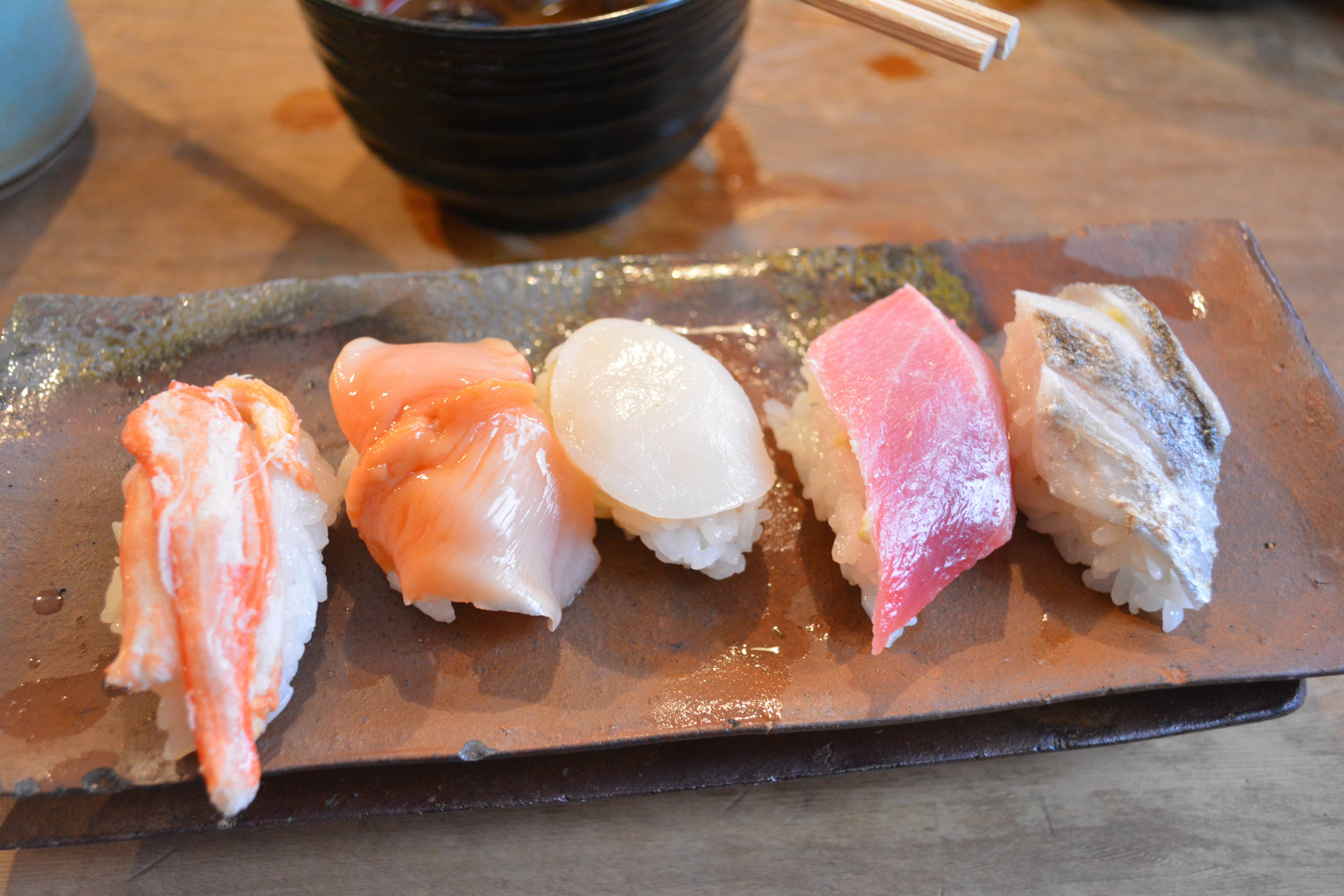 A cut above: A sushi course at Endo's is worth waiting in line for.   J.J. O'DONOGHUE