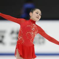 National champ: Satoko Miyahara performs during Sunday's free skate at the All-Japan Championships. Miyahara took home her first national title with 195.60 points. | KYODO
