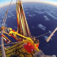 Trans-Pacific balloon crew: It's like camping in the sky