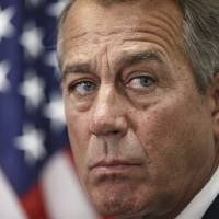 Before heading to the White House on Tuesday to meet with President Barack Obama, House Speaker John Boehner of Ohio tells reporters that the House of Representatives will pass a budget for the Department of Homeland Security but will block Obama's executive actions on immigration. | AP