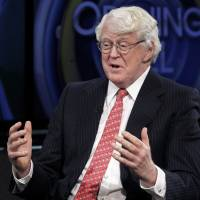 William Koch is interviewed last March in New York. Florida Sen. Marco Rubio seems to be moving toward a bid for the Republicans' presidential nomination, and late Sunday he joined Sens. Ted Cruz of Texas and Rand Paul of Kentucky for an audience with the conservative billionaire Koch brothers. | AP