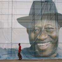 Nigeria's President Goodluck Jonathan on January 8 began campaigning for a second term in office. While he and other global leaders have condemned the attacks in Paris, critics say the world has paid little attention to the killings by Islamists of perhaps 2,000 people in the Nigerian town of Baga. | REUTERS