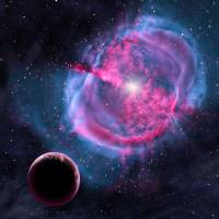 This illustration provided by the Harvard-Smithsonian Center for Astrophysics depicts an Earth-like planet orbiting a dying star that has shed its outer layers. Earlier in its life, this doomed planet may have been like one of the newly discovered worlds orbiting in the habitable zones of their stars.   AP