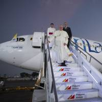 Pope cites limits to free speech, blames humanity for climate change